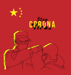 Corona infect control diagnosis concept doctor vector