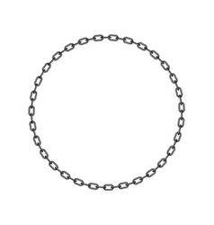 Dark chain in shape of circle vector