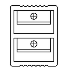 Double sharpener icon outline style vector