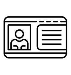 Driver license icon outline style vector
