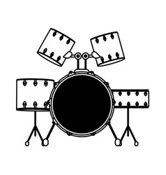 Drum set musical instrument icon image vector