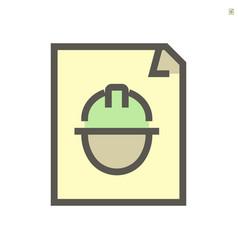 engineer profile document icon design 48x48 vector image