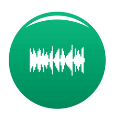 Equalizer vibration icon green vector