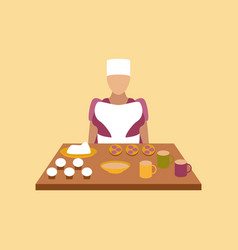 Flat icon on stylish background school cook vector