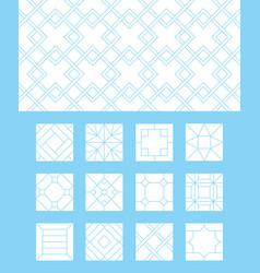 floor pattern sidewalk limestone brick tiles vector image
