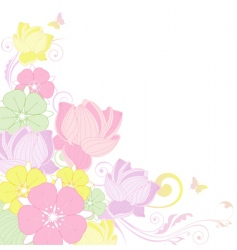 Floral background with lotus vector
