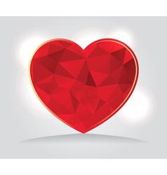 Geometric Triangular Red Heart vector image