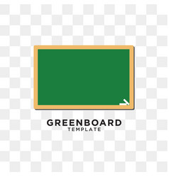 greenboard graphic design template vector image