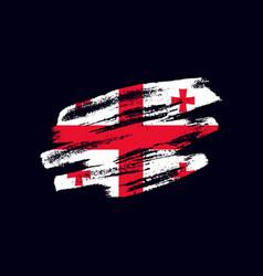 Grunge textured georgian flag vector