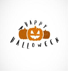 Halloween pumpkins design element vector