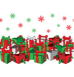 happy new year holidays gift banner vector image