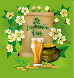 happy st patricks dayblurred green background vector image