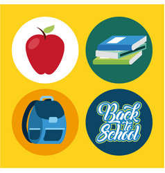 icon set back to school vector image