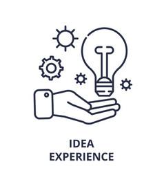 idea experience line icon concept idea experience vector image