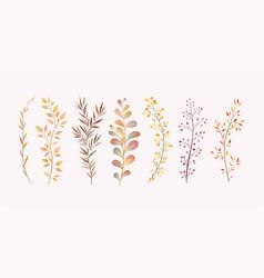 Imitation watercolor twigs decor for the vector