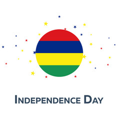 Independence day of mauritius patriotic banner vector
