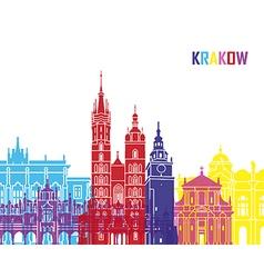 Krakow skyline pop vector