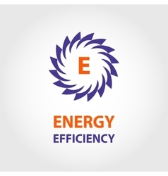 Logo energy efficiency eco energy sun vector
