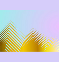minimal pastel background with golden curved vector image