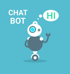 Modern robot free chat bot artificial intelligence vector