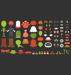 monster and alien creation kit vector image