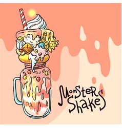 monster shake vector image