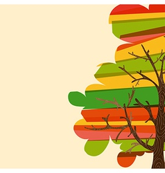 Multicolor tree background vector