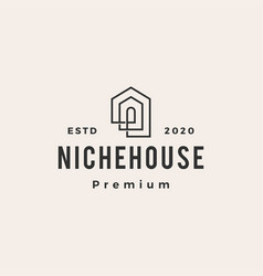 niche house hipster vintage logo icon vector image