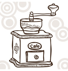 Old coffee mill vector