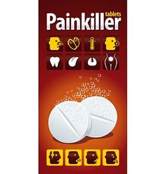 Painkiller tablets vector