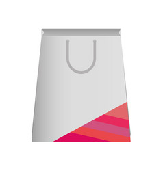paper bag with lines pink vector image