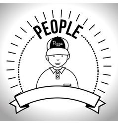 People profile retro design vector