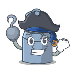 Pirate milk can character cartoon vector