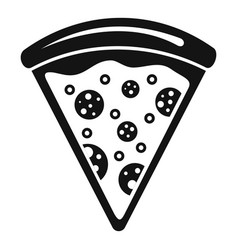 pizza slice icon simple style vector image