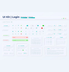 Private account access ui elements kit vector
