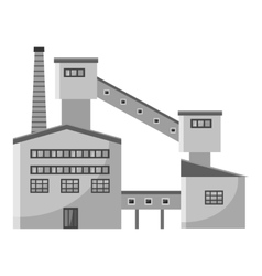 Processing plant waste icon gray monochrome style vector