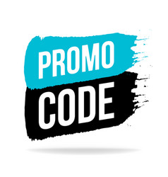 Promo code coupon code icon emblem logo in brush vector