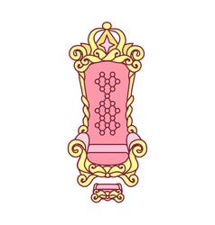 queen princess throne vector image