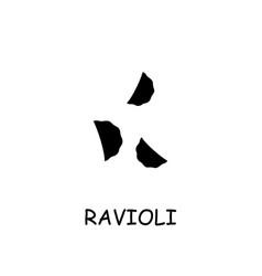 ravioli flat icon vector image
