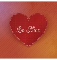 Realistic Valentines Day red Heart paper Banner vector image