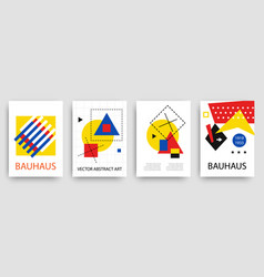 retro geometric bauhaus memphis templates set vector image