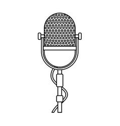 retro stage microphone vector image