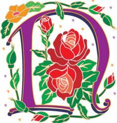 rosette letter N vector image