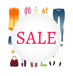 sale of women s clothing vector image