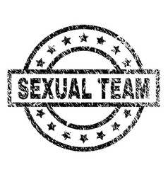 Scratched textured sexual team stamp seal vector