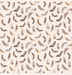 seamless pattern with ladies shoes vector image