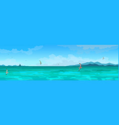 seascape panorama vector image