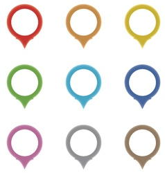 Set of circle pointers in the colors of the rainb vector image