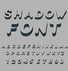 Shadow font Set of letters of drop shadow 3D vector