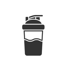 shaker icon in flat style sport bottle on white vector image